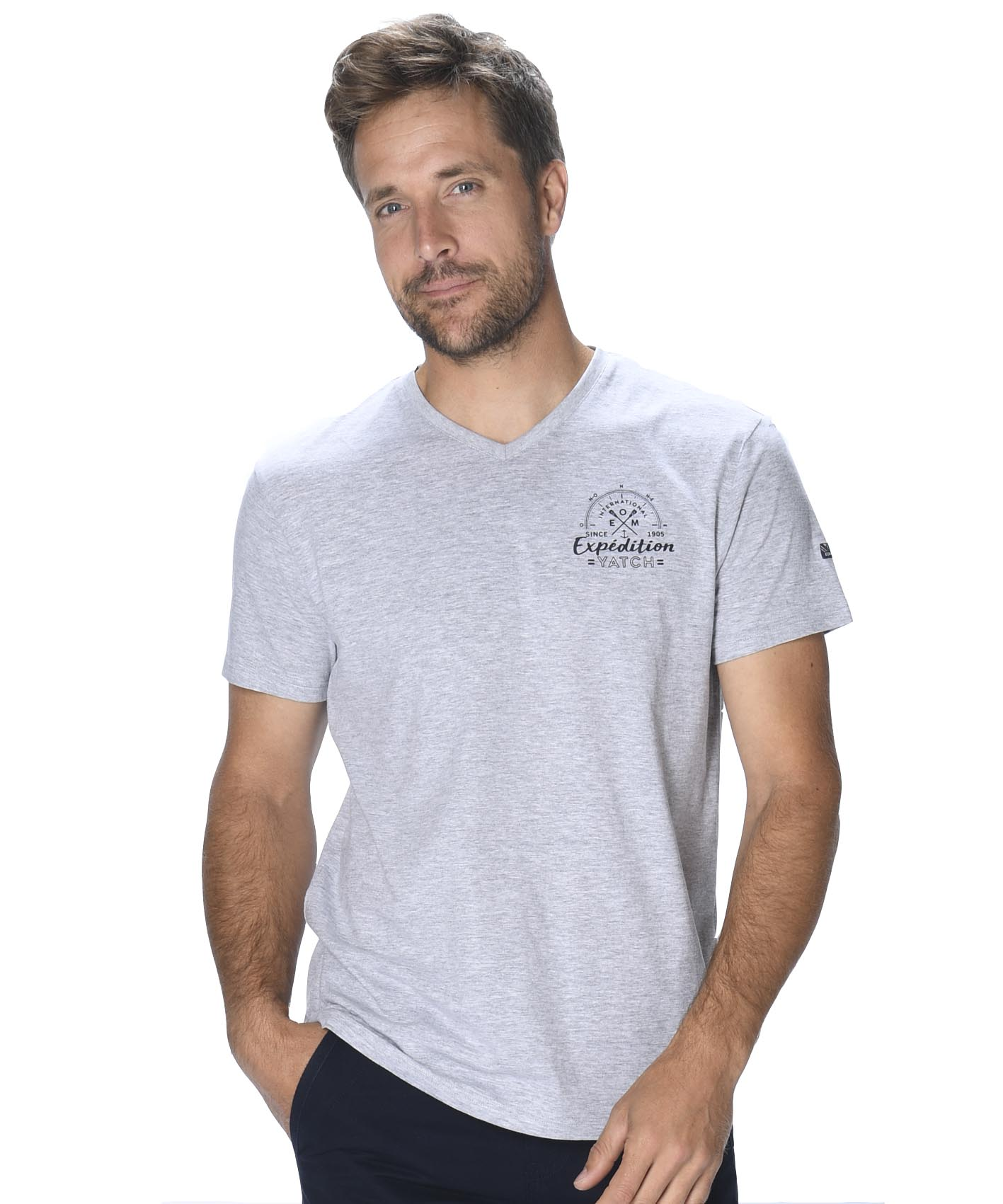 Tee-shirt manches courtes homme - Mode marine Homme