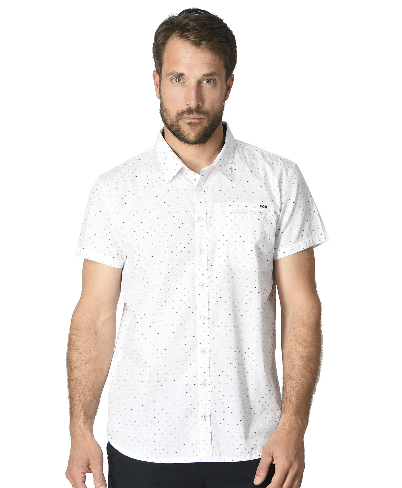 Chemise manches courtes blanche homme - Mode marine Homme