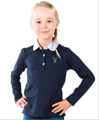 Polo manches longues fille - Mode marine Enfant