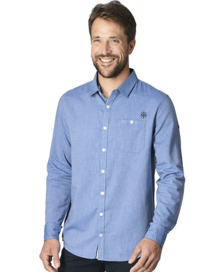 Chemise bleu manches longues homme - Mode marine Homme